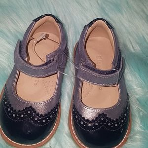 Never worn Navy and silver dress shoes